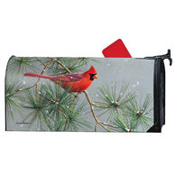 MailWraps Winter Red Bird Magnetic Mailbox Cover