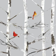 Paperproducts Design Winter Birch Cardinal Beverage Napkin