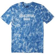 Life is Good Men's Grateful Dad Crusher Short-Sleeve T-Shirt