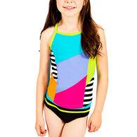 Girl & Co. Girls' Jordan Colorblock Tankini, 2pc