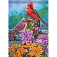 Carson Home Accents Glittertrends Cardinal Life Garden Flag