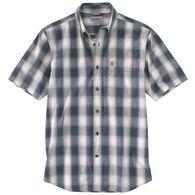 Carhartt Men's Big & Tall Essential Plaid Button-Down Short-Sleeve Shirt
