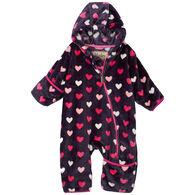 Hatley Infant Girl's Lovey Hearts Fuzzy Fleece Bundler