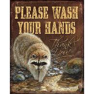 Wild Wings Raccoon Please Wash Your Hands Sign