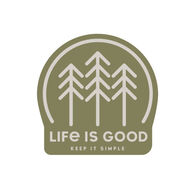 Life is Good Simple Forest Small Die Cut Decal