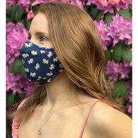 Puppie Love Men's & Women's Navy Tie Dye Pup Face Mask