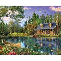 White Mountain Jigsaw Puzzle - Mountain Cabin