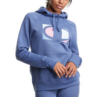 Champion Women's Powerblend Large C Graphic Classic Hoodie
