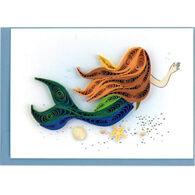 Quilling Card Mermaid Gift Enclosure Mini Card