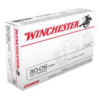 Winchester 30-06 Springfield 147 Grain FMJ Rifle Ammo (20)