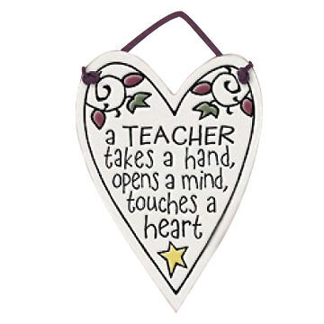 "Spooner Creek ""Teacher Takes"" Mini Charmers Heart Tile"