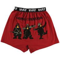 Lazy One Men's Going Commando Bear Comical Boxer Short
