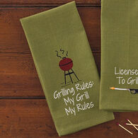 Park Designs Grilling Rules Dish Towel