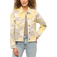 Mystree Women's Tie Dye Trucker Jacket