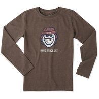Life is Good Boy's Ice Day Hockey Crusher Long-Sleeve Shirt