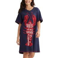 Hatley Little Blue House Women's A Shell of My Former Self Sleepshirt