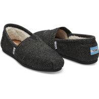 TOMS Women's Black and White Wool Classic Alpargata Shoe