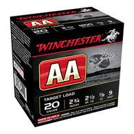"""Winchester AA Target 20 GA 2-3/4"""" 7/8 oz. #9 Shotshell Ammo (25)"""