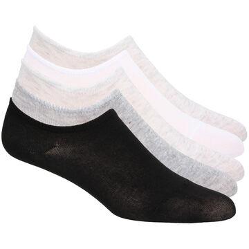 Gina Womens Laundry Heather Low Cut Liner Sock, 5/pk