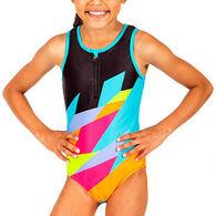 Girl & Co. Girls' Cruz Printed Swimsuit