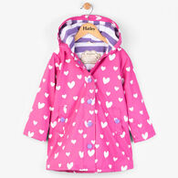 Hatley Girls' Color Changing Floating Hearts Splash Jacket