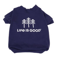 Life is Good Trees Dog T-Shirt