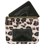 Buxton Women's Leopard - RFID Large Coin Card Case