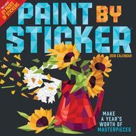 Paint by Sticker 2018 Wall Calendar by Workman Publishing