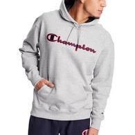 Champion Men's Powerblend Satin Stitch Logo Hoodie
