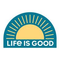 Life is Good Sunrise Die Cut Sticker