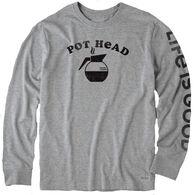 Life is Good Men's Pot Head Crusher Long-Sleeve T-Shirt