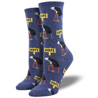 Socksmith Design Women's Nope Ostrich Crew Sock