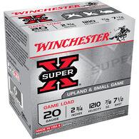 "Winchester Super X Upland & Small Game 20 GA 2-3/4"" 7/8 oz. #7.5 Shotshell Ammo (25)"