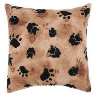 """Maine Balsam Fir 5"""" x 5"""" Flannel Tracks Pillow"""