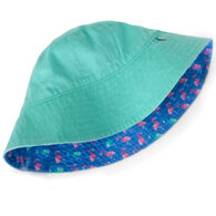 Hatley Girl's Fancy Flamingo Reversible Sun Hat