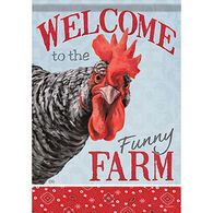 Carson Home Accents Flagtrends Funny Farm Chicken Garden Flag