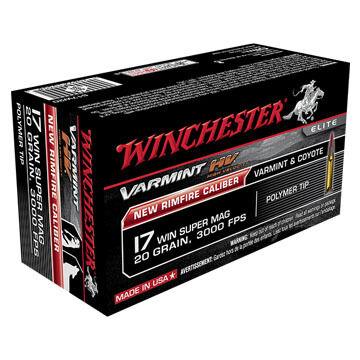 Winchester Varmint HV 17 WSM 20 Grain Polymer Tip Rimfire Ammo (50)