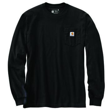 Carhartt Mens Loose Fit Heavyweight Pocket Antler Graphic Long-Sleeve T-Shirt