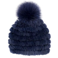 Mitchies Matchings Women's Knitted Rabbit Fur Hat