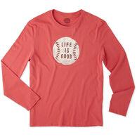 Life is Good Men's Vintage Baseball LIG Smooth Long-Sleeve T-Shirt