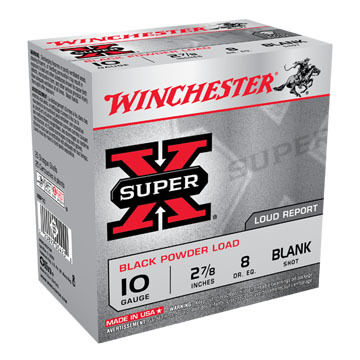 "Winchester Super-X 10 GA 2-7/8"" Black Powder Blank Ammo (25)"