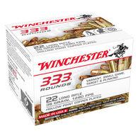 Winchester 333 Rounds 22 LR 36 Grain HP Rimfire Ammo (333)