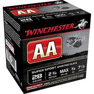 "Winchester AA Super Sport Sporting Clays 28 GA 2-3/4"" 3/4 oz. #7.5 Shotshell Ammo (25)"