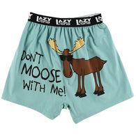 Lazy One Men's Don't Moose With Me Comical Boxer Short
