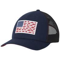 Columbia Men's PFG Mesh Snap Back Fish Flag Ball Cap