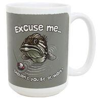 Earth Sun Moon Excuse Me Fish Mug