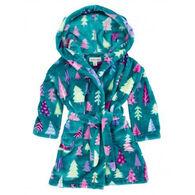 Hatley Girls' Trees Towel Robe