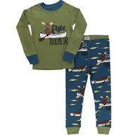 Lazy One Toddler Boy's Canoe Tuck Me In Long-Sleeve Pajama Set, 2-Piece