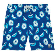 Tom & Teddy Boy's Ocean Blue Citrus Swim Trunk