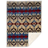 Carstens Inc. Blue River Southwest Plush Sherpa Fleece Throw Blanket